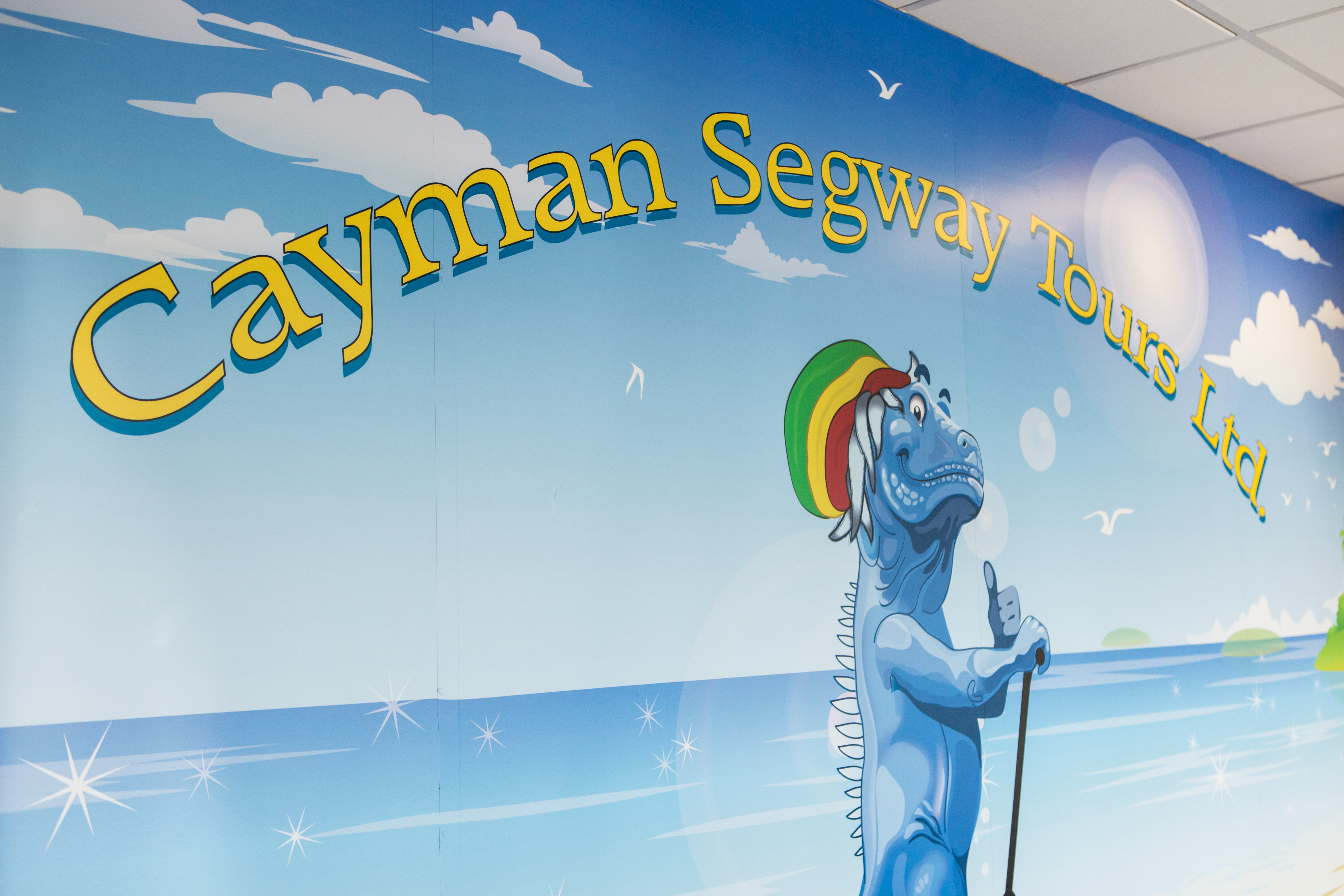 Cayman Segway Graphic Wall
